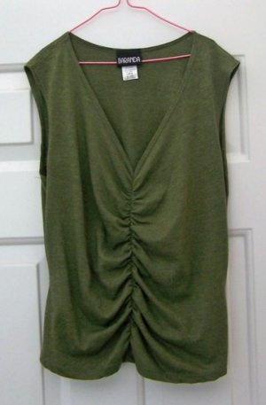 Sleeveless Top - Baranda Large Soft Fabric Heather Green
