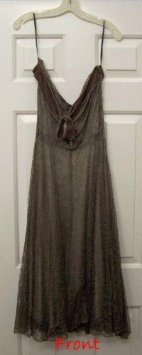Vintage Lace Dress Strapless Women's Size 7/8