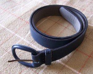 Vintage Morris Moskowitz Navy Blue Leather Belt Medium Small
