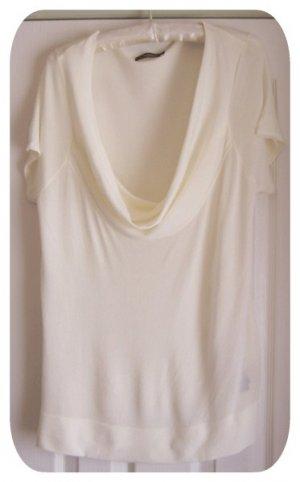 Liz Claiborne Off White Suit Blouse - Size Large - Sheer