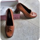 """NIB Camel Leather 2-1/2"""" Tassel Loafer Shoes 10 Med New"""