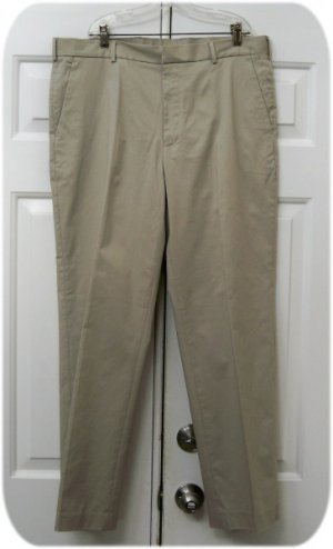 Classic Perry Ellis Flat Front Khaki Pants NEW 36 x 30 - FREE SHIP