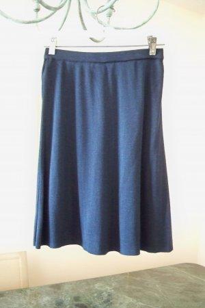 Knit Navy Liz Claiborne Skirt Elastic Waistband Size Medium FREE SHIP