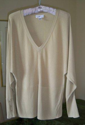 Ann Taylor Loft Batwing Beige V-Neck Sweater  FREE SHIP