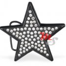 Black Star Belt Buckle with Clear CZ
