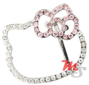 Sexy shiny Hello Kitty Belt Buckle Rhodium plated