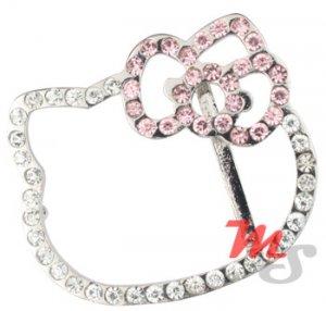 Sexy shiny Hello Kitty Belt Buckle Rhodium plated