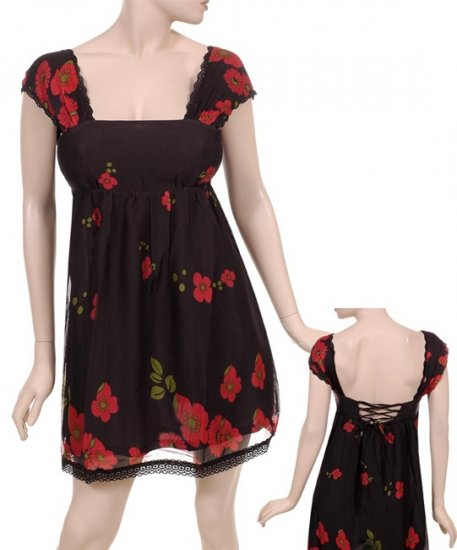 Black and Red Summer Dress