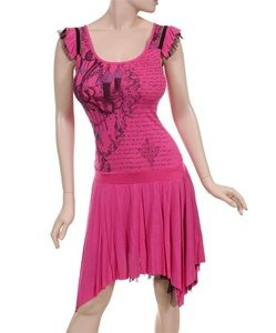 Super Fun Fushia Asymetrical Dress