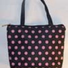 Black with Pink Polka Dot Mini Purse or Makeup Bag