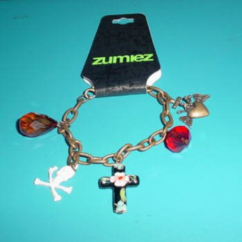 Two pack of Different Zumiez Skull Charm Bracelets