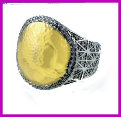 Stunning Cuff with Hammered Gold
