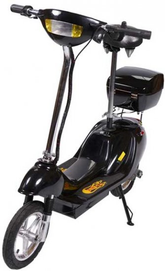 Black X-Treme X-360 36 Volt Electric Scooter