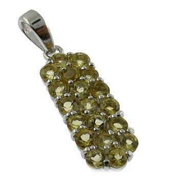 925 silver with Genuine Citrine Pendant