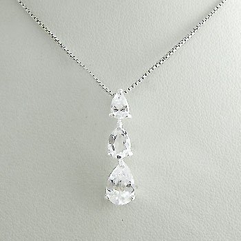 925 Sterling  Silver With White CZ Pendant