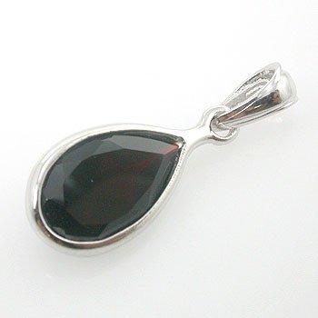 Genuine Garnet 925 Sterling Silver Pendant