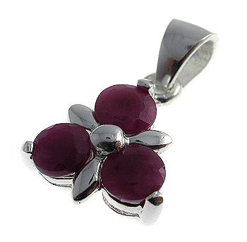Genuine Ruby With 925 Silver Pendant