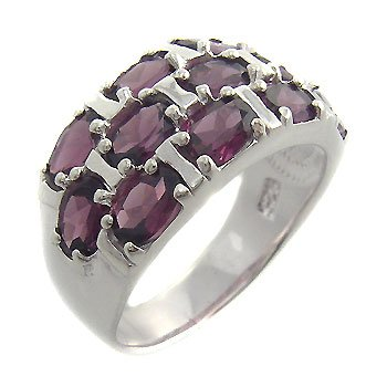 925 Sterling Silver With Genuine Amethyst Ring size 9