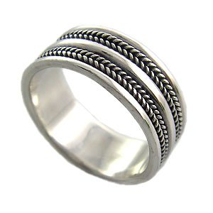 925 Sterling Silver Plain Men's Ring size 10