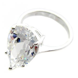 925 Sterling Silver With White CZ Ring size 7