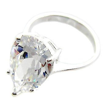 925 Sterling Silver With White CZ Ring size 8