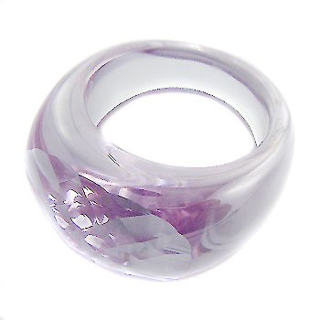 Solid Amethyst Crystal Ring size 8