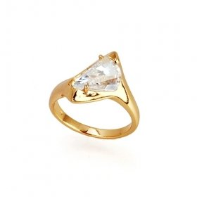 Beautiful 18K Gold Plated CZ Cubic Zirconia Ring size 9 Free Shipping