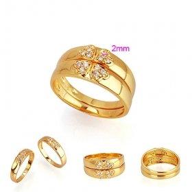 Beautiful 18K Gold Plated CZ Cubic Zirconia Ring set size 6Free Shipping