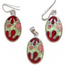 Free Shipping 925 Sterling Silver Pendant & Earring with Mother of pearl
