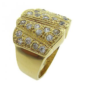 Free Shipping 14K French Gold  Plated 2 Micron Costume  Jewelry  Ring