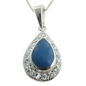 Free Shipping 925 Silver With Genuine Turquoise And Blue Sapphire CZ