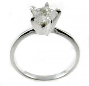 Free Shipping Created Diamond 925 Sterling Silver Engagement Ring