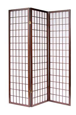3 Panel Shoji Room Divider Cherry