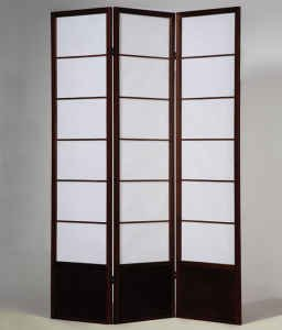3 Panel Shoji Room Divider Shogun Expresso Finish