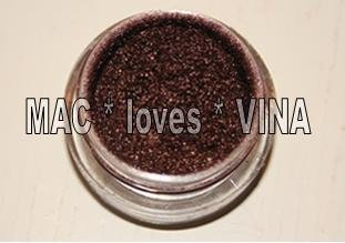 MAC Pigment * CHOCOLATE BROWN * 1/4 sample - $ave Pigments