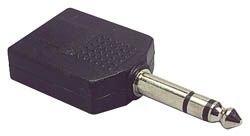 "1/4"" Stereo Y Adapter 1 Plug To 2 Jacks"