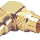 Gold RCA Right Angle Adapter Short