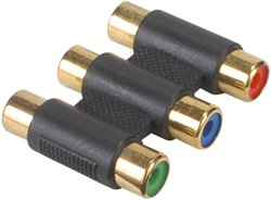 Component Video 3 RCA Female to Female Coupler