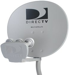 "Terk TRKS26 18""x20"" DirecTV Multi-Satellite Dish Triple LNB"