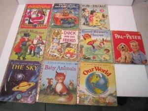 Vintage Lot Of 10 Golden Books 1950's