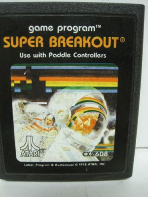 Vintage Atari Super Breakout 27 Tele-Games Paddle Controlled Video games 1978