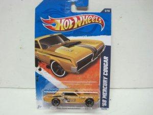 Hotwheels Kmart Days 9-17- 2011 68 Mercury Cougar Yellow 2011 Hot Wheels