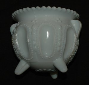 White Gypsy Pot - Toothpick holder - Boyd Glass Company