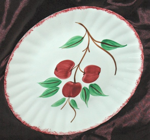 BLUE RIDGE Southern Potteries Inc. CHERRY BOUNCE Hand Painted Deep Well Platter