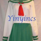 Japanese School Uniform Costume Inuyasha Kagome Cosplay