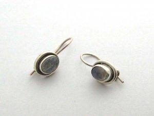 silver moonstone earrings, new 925