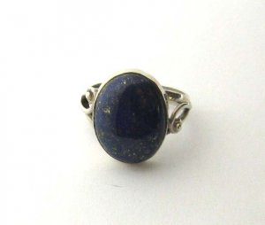 Sterling Silver lapis lazuli cocktail ring, size R, new