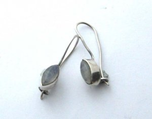 Sterling silver moonstone earrings marquise