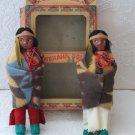 Antique MINNEHAHA Dolls 2154 Boy & Girl Native American Indian with Original Box 1930s 1940s