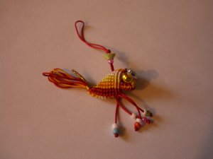 Golden Fish - Mobile Phone Charm